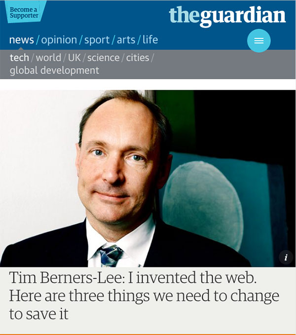 tim berners lee the guardian